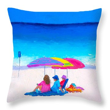 Blue Skies Clear Water Throw Pillow