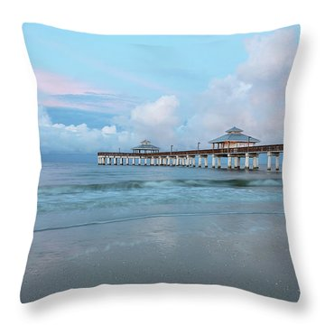 Throw Pillow featuring the photograph Blue Skies by Kim Hojnacki