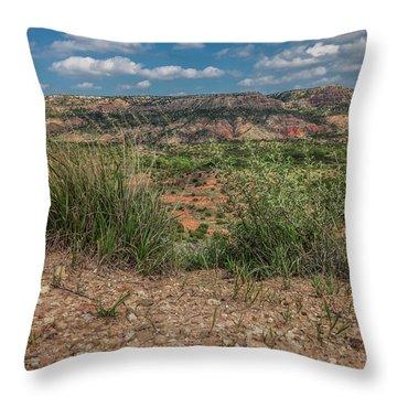 Blue Skies Over Palo Duro Canyon Throw Pillow