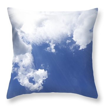 Blue Sky And Cloud Throw Pillow by Setsiri Silapasuwanchai
