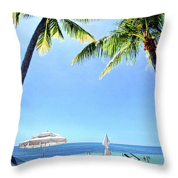 Throw Pillow featuring the photograph Blue Sky Breezes by Phil Koch
