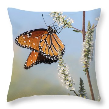 Throw Pillow featuring the photograph Blue Sky Dancer  by Julie Andel