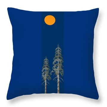 Throw Pillow featuring the painting Blue Sky by David Dehner