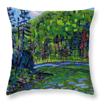 Blue Sky Greens Throw Pillow