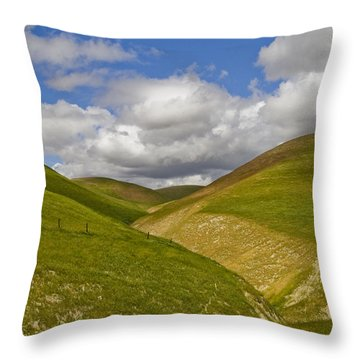 Throw Pillow featuring the photograph Blue Sky by Marta Cavazos-Hernandez