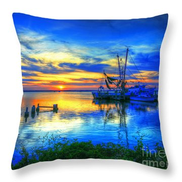 Blue Sky Sunset 2 Throw Pillow