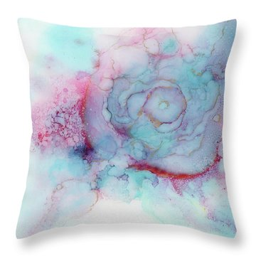Blue Sky Yesterday Throw Pillow