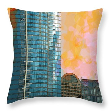 Throw Pillow featuring the photograph Blue Skyscraper Seattle by Yulia Kazansky