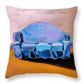 Blue Slipcover Throw Pillow by John Williams