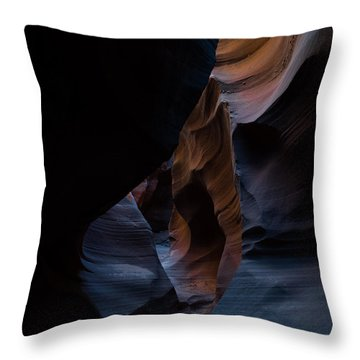 Blue Slots Throw Pillow