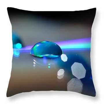 Blue Sparks Throw Pillow