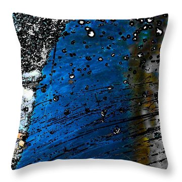 Blue Spectacular Throw Pillow
