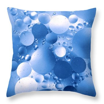Blue Sphere Flow Throw Pillow