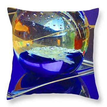 Blue Sphere Throw Pillow