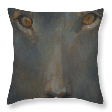 Blue Sphinx Throw Pillow