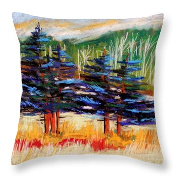 Blue Spruce Stand Throw Pillow
