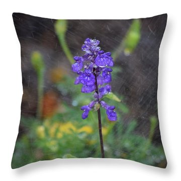 Blue Standing Throw Pillow