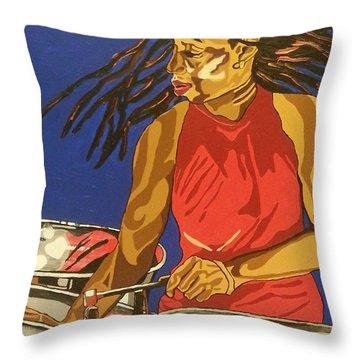 Blue Steel Throw Pillow