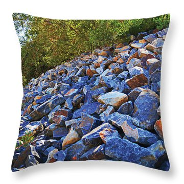 Blue Stone Hill  Throw Pillow