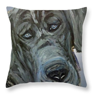 Blue Study  Throw Pillow