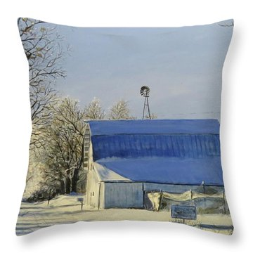 Blue Sunday Throw Pillow