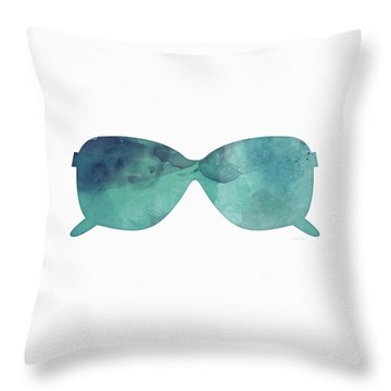 Blue Sunglasses 1- Art By Linda Woods Throw Pillow