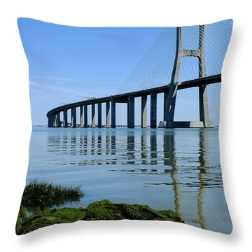 Blue Sunny Day II Throw Pillow