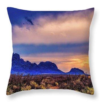 Blue Sunset Nm-az Throw Pillow