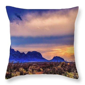 Blue Sunset Nm-az Throw Pillow by Diana Mary Sharpton