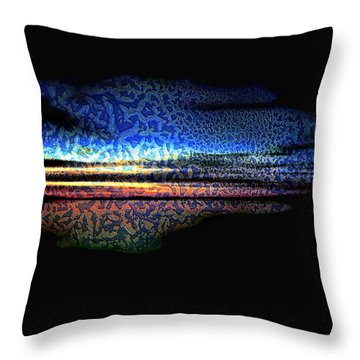 Blue Sunset On The Lake  Throw Pillow