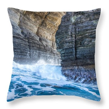 Blue Surge Throw Pillow by Tim Lake