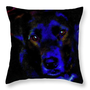 Blue The Dog 1 Version 2 Throw Pillow