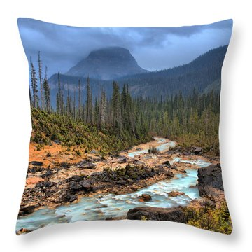 Throw Pillow featuring the photograph Blue Through The Yoho Valley by Adam Jewell