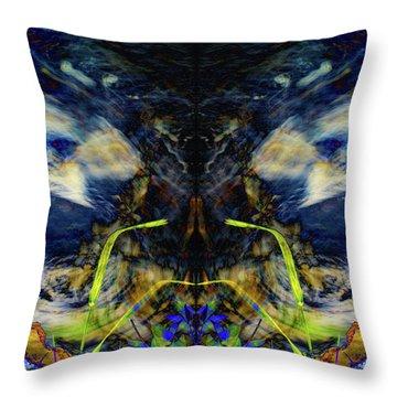 Blue Tigers Devil Throw Pillow