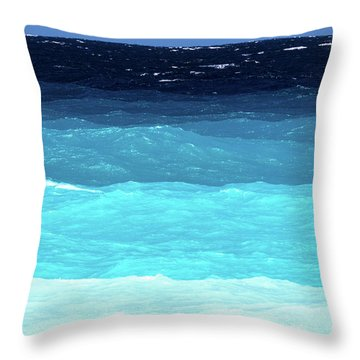Blue Tones Of Ionian Sea Throw Pillow