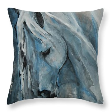 Throw Pillow featuring the painting Tranquility by Jani Freimann