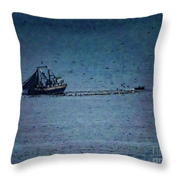 Blue Trawler 1 Throw Pillow
