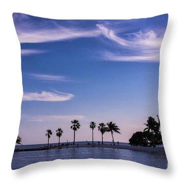 Blue Tropics Throw Pillow