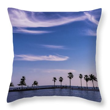 Throw Pillow featuring the photograph Blue Tropics by Louise Lindsay