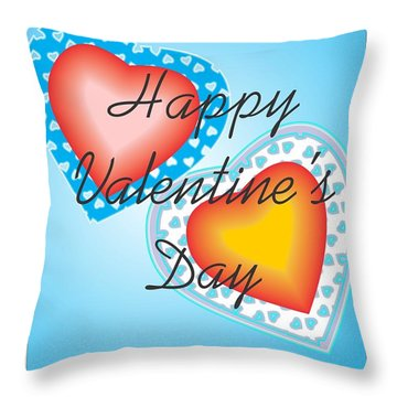 Blue Valentine Lace  Throw Pillow by Sherril Porter