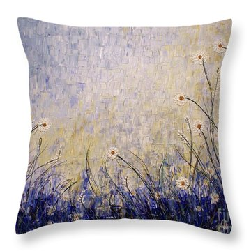 Throw Pillow featuring the painting Blue Valley by Jane Chesnut