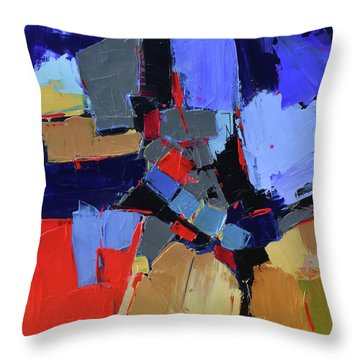 Throw Pillow featuring the painting Blue Variation by Elise Palmigiani