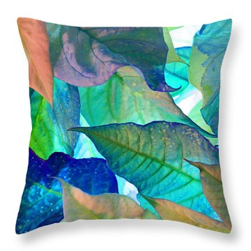 Blue Velvet Throw Pillow