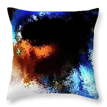 Blue Venice Mask Throw Pillow