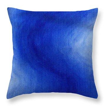 Blue Vibration Throw Pillow