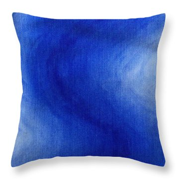 Blue Vibration Throw Pillow