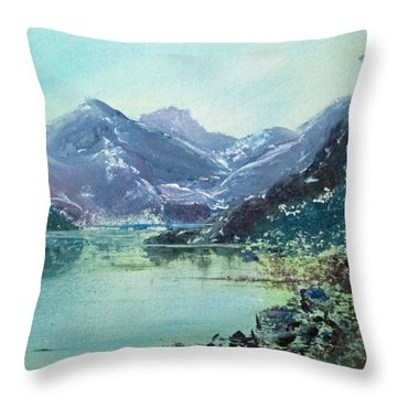 Blue Vista Two Throw Pillow by Richard James Digance
