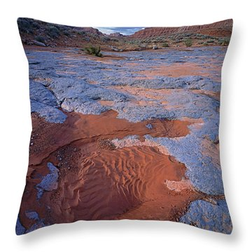 Blue Wash Throw Pillow