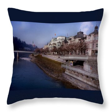 Blue Water Blue Sky Throw Pillow