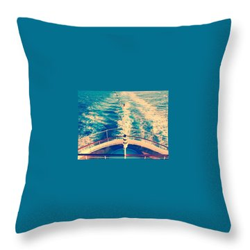 Blue Waters Throw Pillow by Mellisa Lockyer